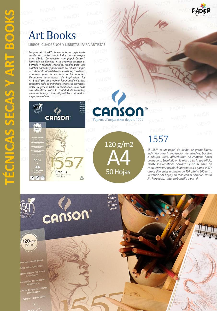 Block Canson A4 1557 Boceto 120g 50 Hojas Fader Barrio ...